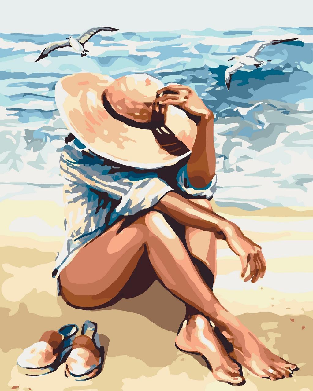 КНО2698 Раскраска по номерам Под пьянящим солнцем, Без коробки