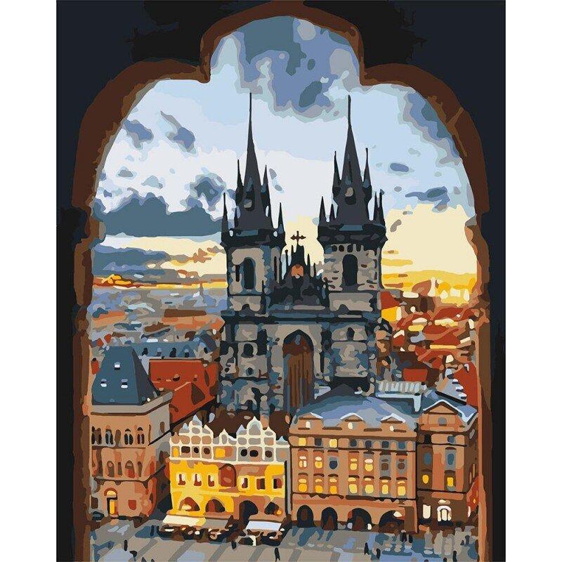 KH3568 набір-розфарбування по номерах Злата Прага, Без коробки