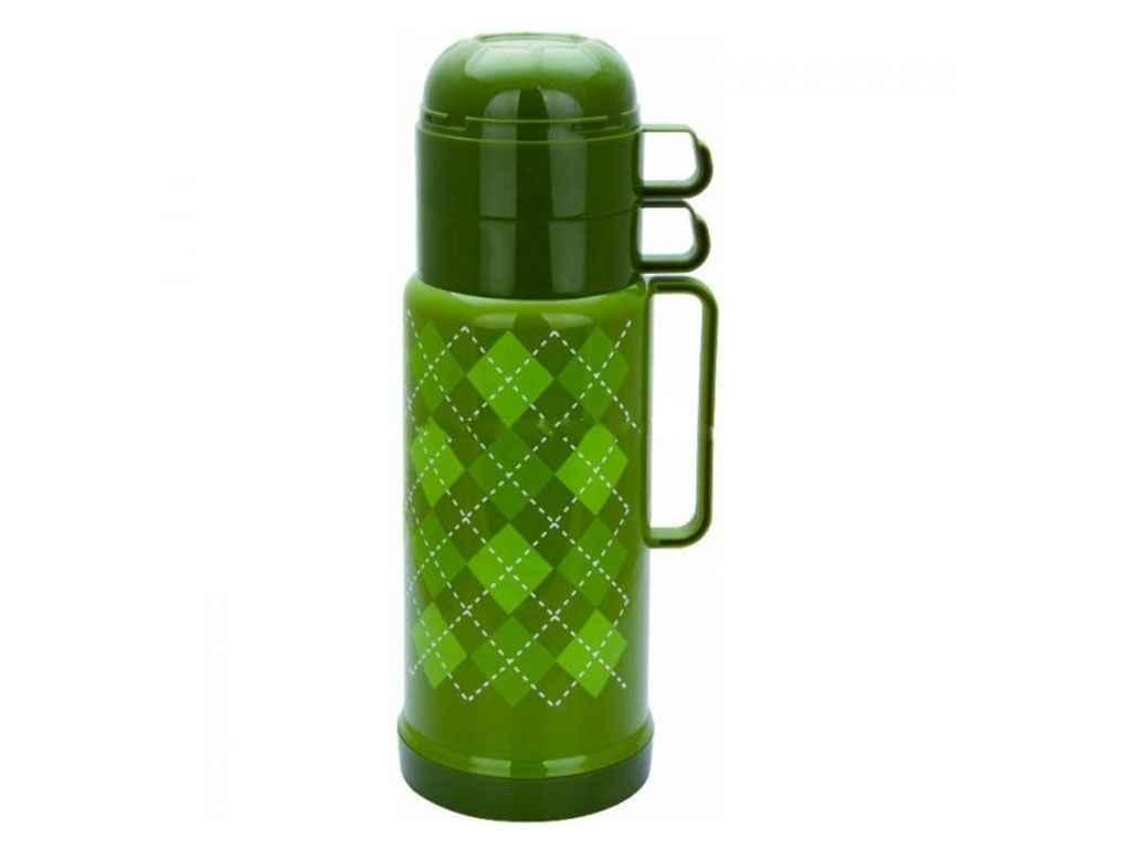 Термос Con Brio пластик-стекло 1 л зеленый