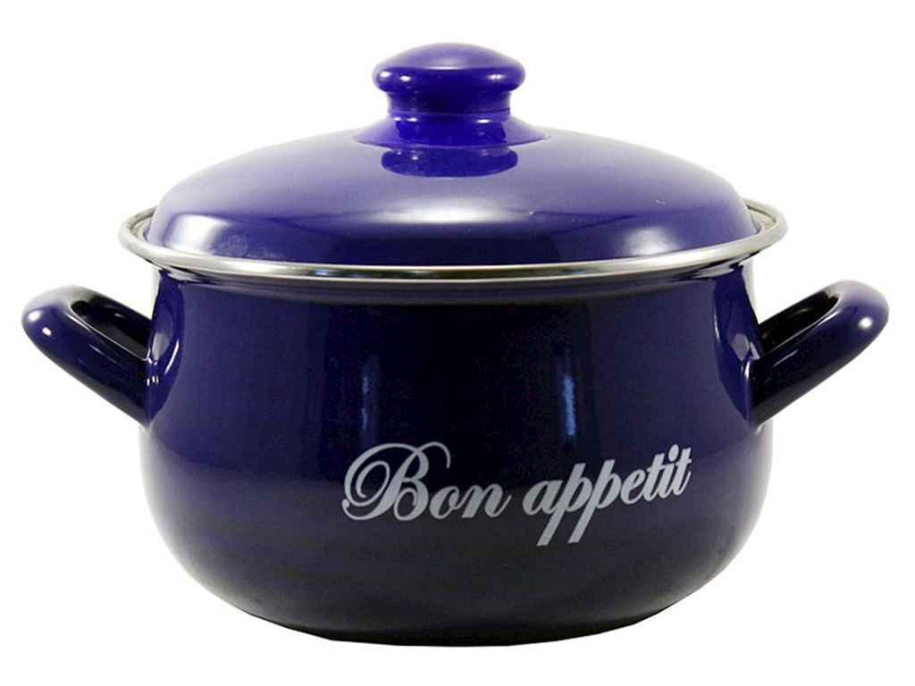 Кастрюля эмалированная Interos Bon Appetit BLUE 6,2 л (568 Т)