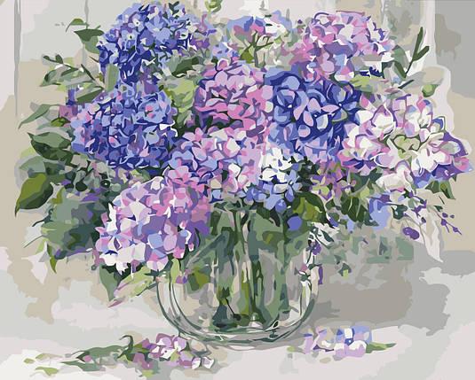 КНО2938 Раскраска по номерам Шикарная гортензия 2, Без коробки, фото 2