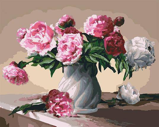 КНО3001 Розфарбування по номерах Квіти любові, Без коробки, фото 2