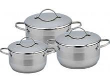 Набор посуды из нержавеющей стали Con Brio 3 предмета 2л/3,7л/4,9л (CB-1143)