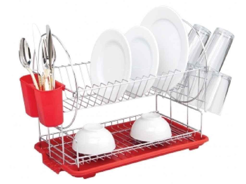 Сушка для посуды Con Brio 2 яруса 50х23,5х37 см (СВ-853)