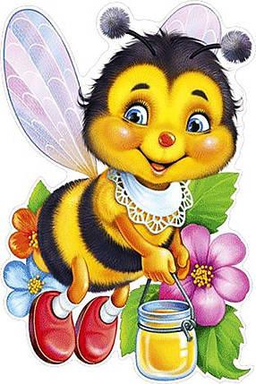 КДІ-0458 Набір алмазної вишивки Бджілка з медом, фото 2