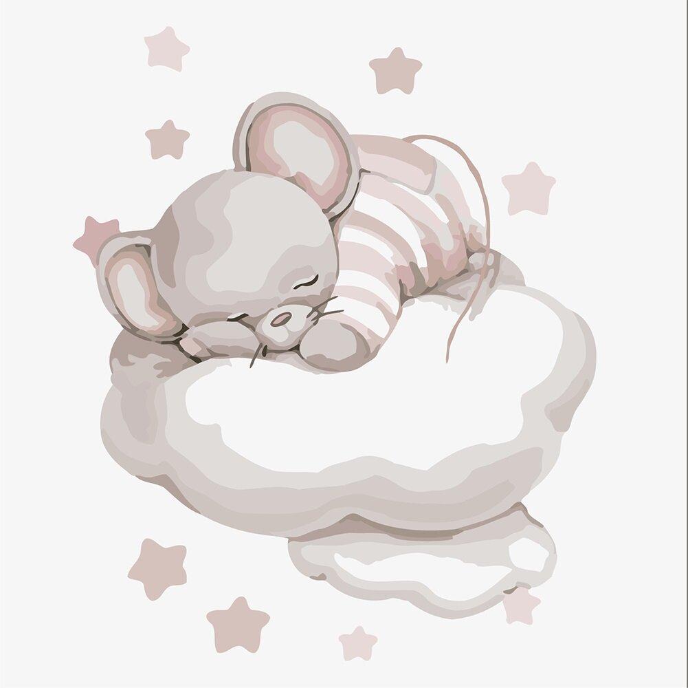 KHO2338 Картина-раскраска Путешествие облаком, Без коробки