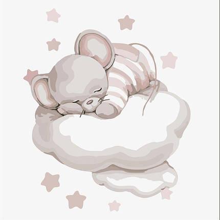 KHO2338 Картина-раскраска Путешествие облаком, Без коробки, фото 2