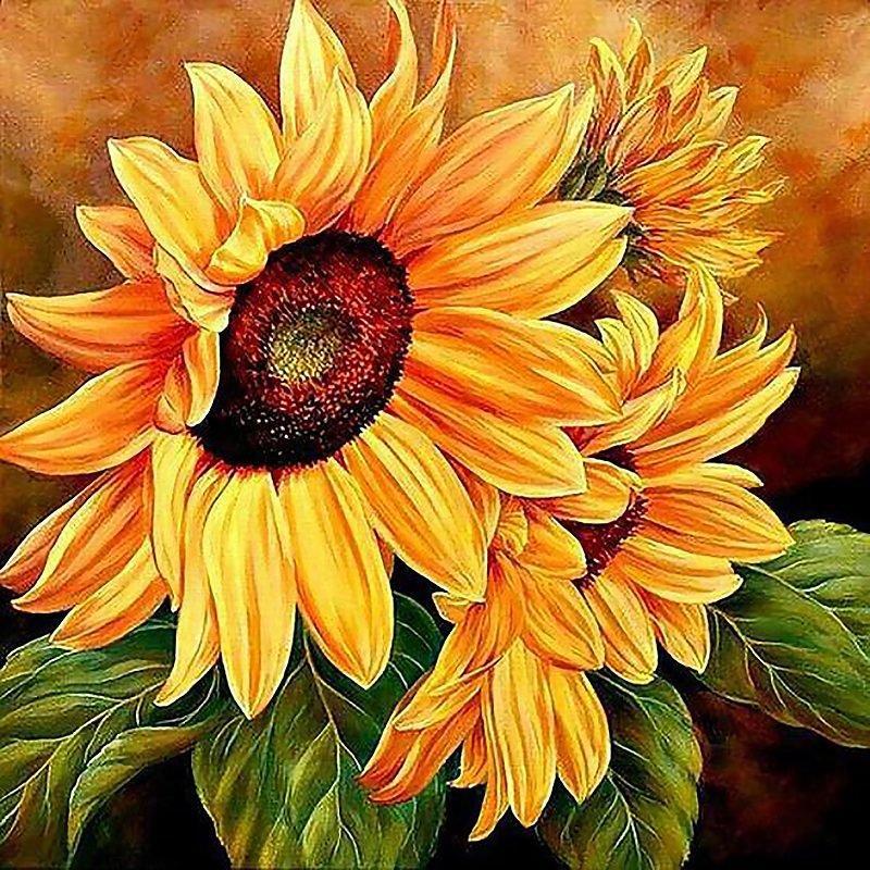 КДИ-0482 Набор алмазной вышивки Цветы солнца
