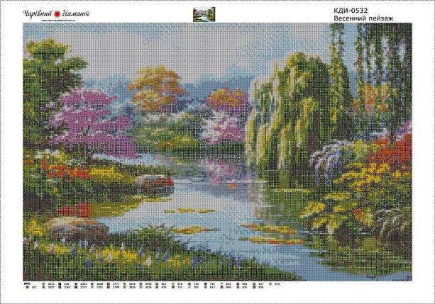 КДИ-0532 Набор алмазной вышивки Весенний пейзаж, фото 2
