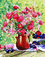 BK-GX34321 Картина для рисования по номерам Цветы и сливы, Без коробки