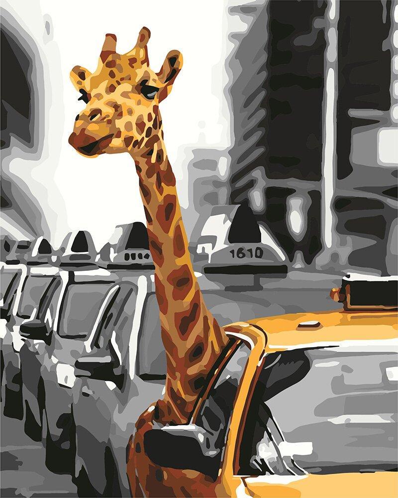 KHO4178 Картина для рисования по номерам Жизнь в мегаполисе, Без коробки