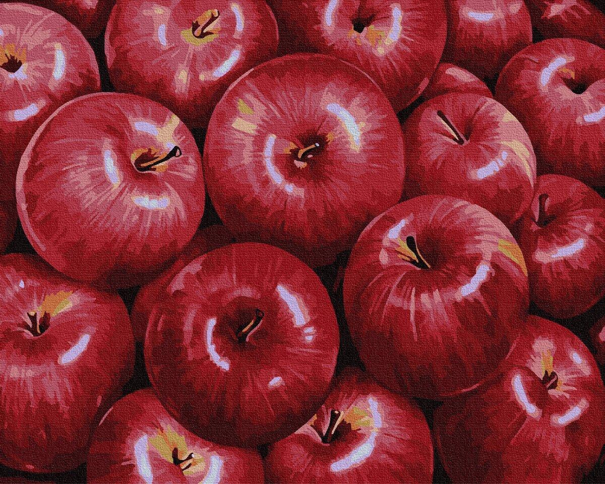 BK-GX34602 Набор раскраски по номерам Красные яблоки, Без коробки