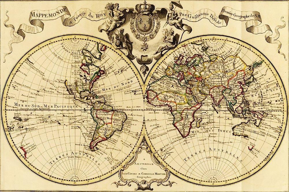 КДІ-0639 Набір алмазної вишивки Старовинна карта світу