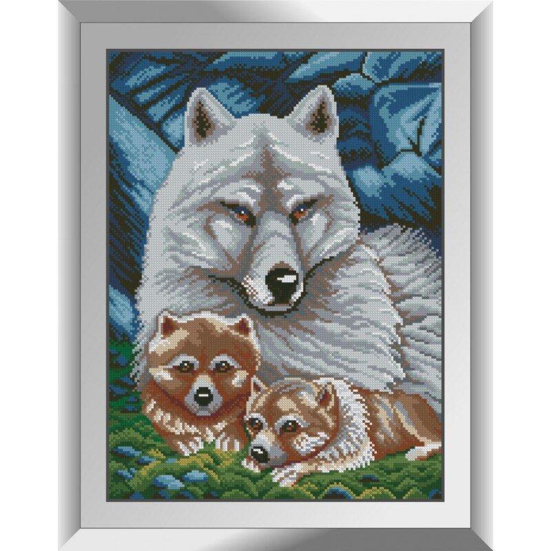 31237 Волчье семейство Набор алмазной живописи