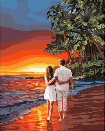 KH4741 Картина для рисования по номерам Романтика на побережье, Без коробки, фото 2