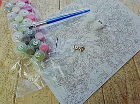 AS0714 Набір для малювання за номерами Сніжний пейзаж, В картонній коробці, фото 2