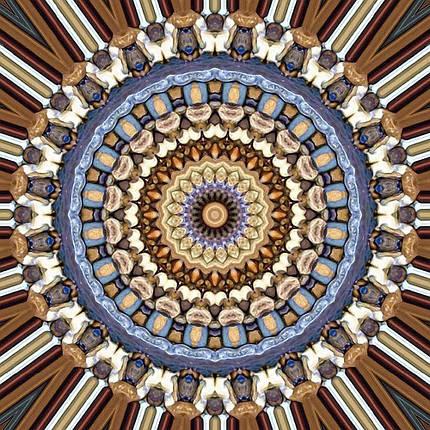 КДІ-0647 Набір алмазної вишивки Мандала – символ благополуччя в будинку, фото 2