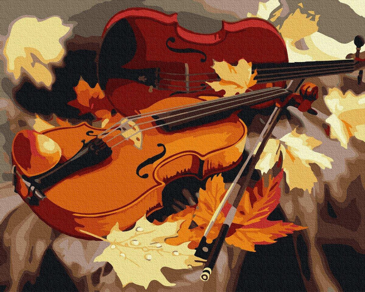 BK-GX34202 Раскраска по номерам Золотая скрипка, Без коробки