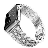 Металлический ремешок STR 7-Bead Metal Band for Apple Watch 38/40 mm - Silver