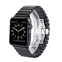 Керамический ремешок STR 1-Bead Ceramic Band for Apple Watch 38/40 mm - Black