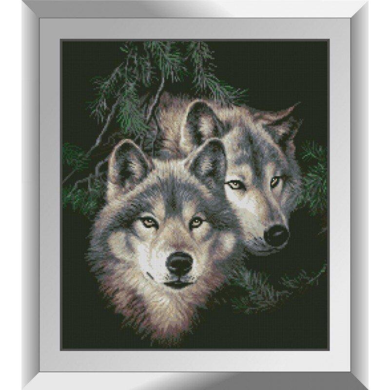 31334 Волки в лесу Набор алмазной живописи