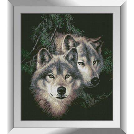 31334 Волки в лесу Набор алмазной живописи, фото 2