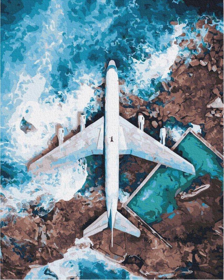 BK-GX32527 Набор живописи по номерам Над океаном, Без коробки
