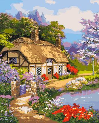 KHO2255 Набор-раскраска по номерам Загородный домик, Без коробки, фото 2