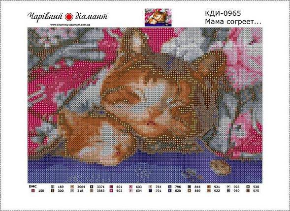 КДІ-0965 Набір алмазної вишивки Мама зігріє, фото 2