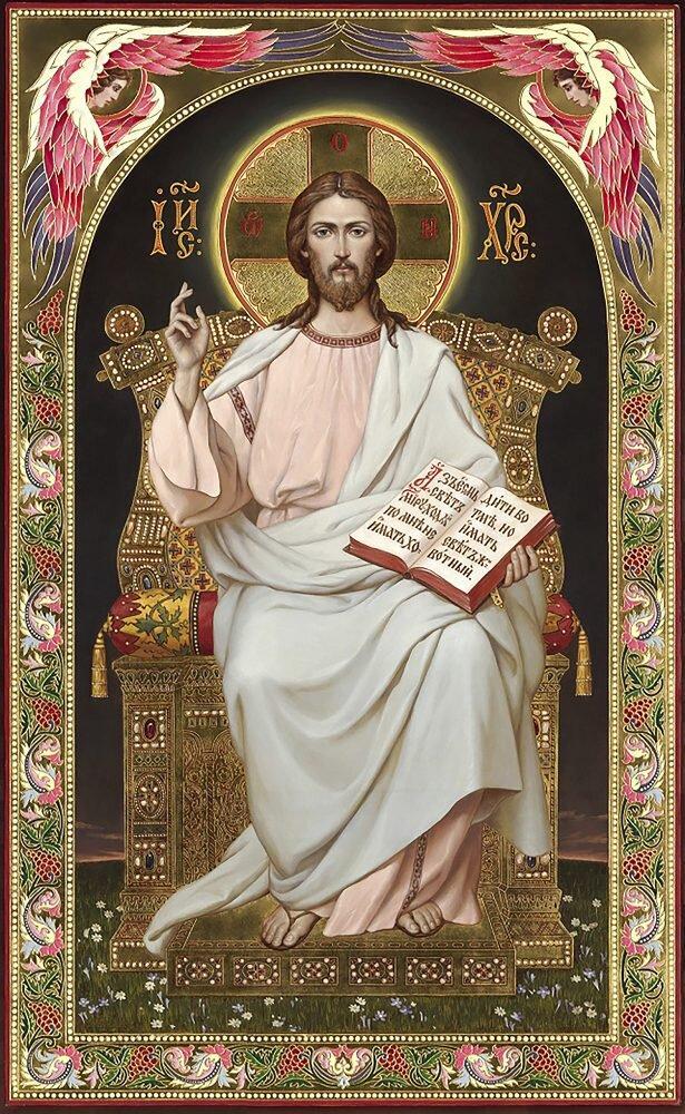 КДІ-0974 Набір алмазної вишивки Ікона Ісус на престолі