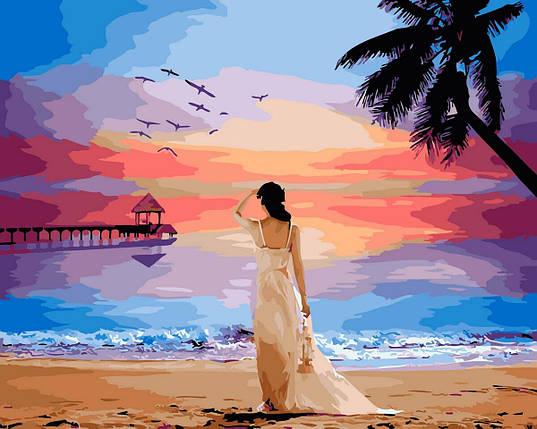 BK-GX29454 Тропический рассвет Набор-картина по номерам, Без коробки, фото 2