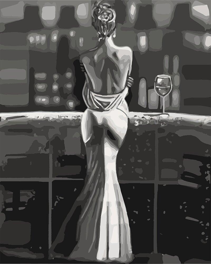 KH4611 Картина-розмальовка Споглядаючи місто, Без коробки
