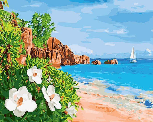 BK-GX27767 Набор для рисования по номерам Цветущий берег, Без коробки, фото 2