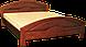 Кровать деревянная Вера (с кованным элементом)200*200, фото 4