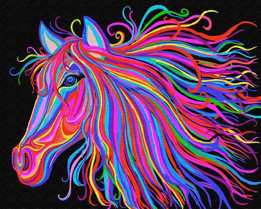 BK-GX29429 Картина для рисования по номерам Радужный конь, Без коробки, фото 2
