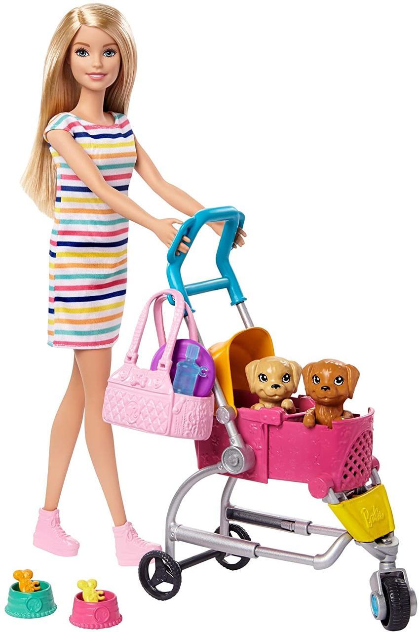 Кукла Барби Прогулка со щенками Оригинал Barbie Stroll 'n Play Pups Playset (GHV92) (887961803624)
