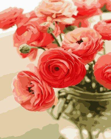AS0678 Набор для рисования по номерам Цветы для любимой, В картонной коробке