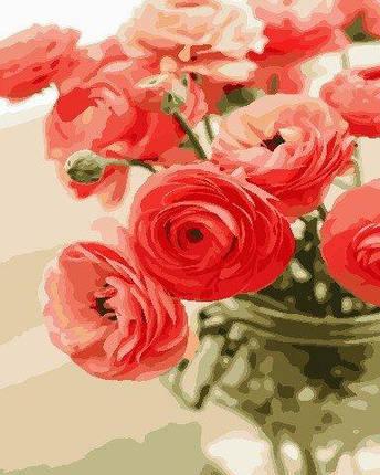 AS0678 Набор для рисования по номерам Цветы для любимой, В картонной коробке, фото 2