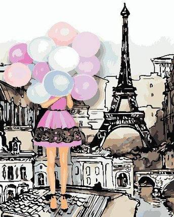 AS0760 Набор для рисования по номерам Краски Парижа, В картонной коробке, фото 2