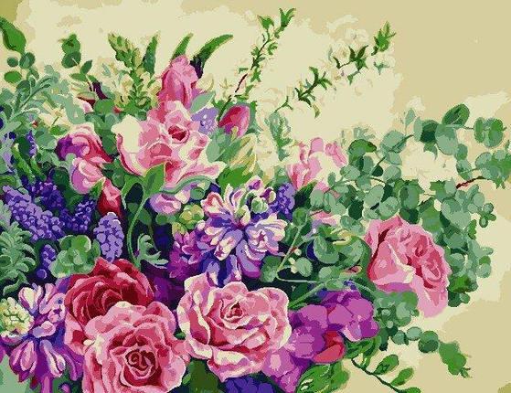 AS0815 Набор для рисования по номерам Чудесные цветы, В картонной коробке, фото 2