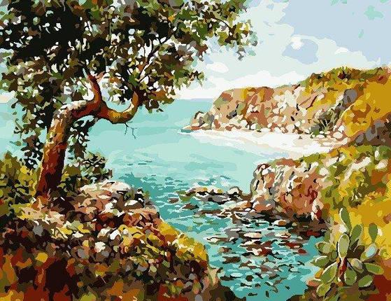 AS0833 Набор для рисования по номерам Уединённый пляж, В картонной коробке, фото 2