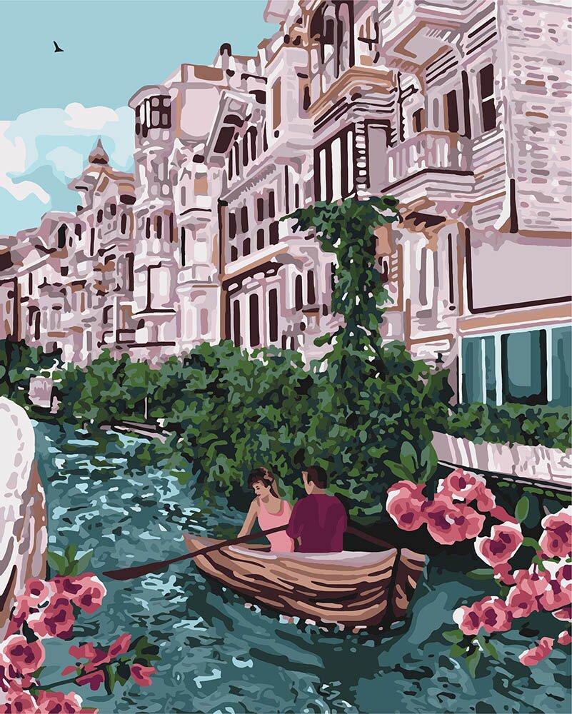 KH4650 Картина-раскраска В обьятиях Италии, Без коробки