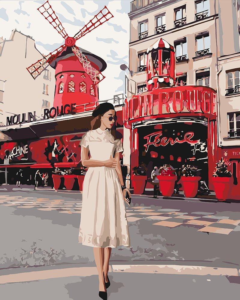 KH4657 Картина-раскраска Moulin Rouge, Без коробки