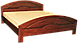 Деревянная кровать из массива Лилия двуспальная, фото 4