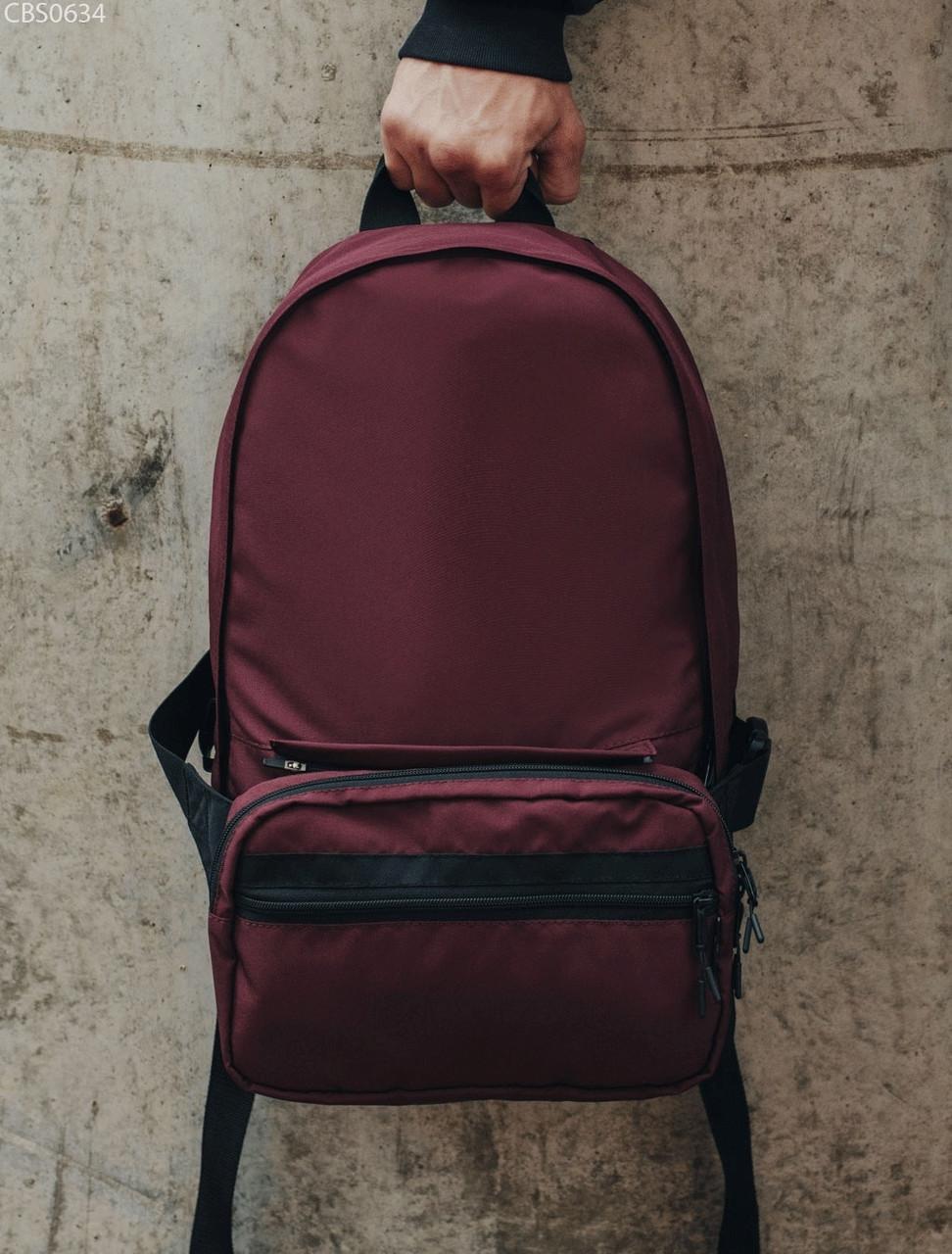 Рюкзак 23L + поясная сумка Staff bordo