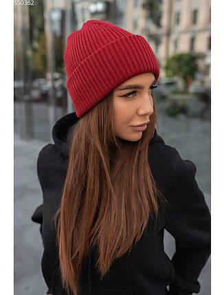 Женская шапка Staff bordo, фото 2
