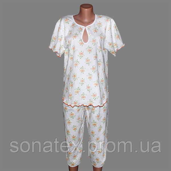Пижама женская из жатки, 48-50 размер