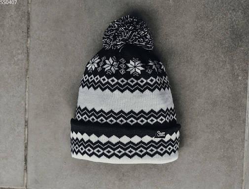 Шапка Staff black & white pattern, фото 2