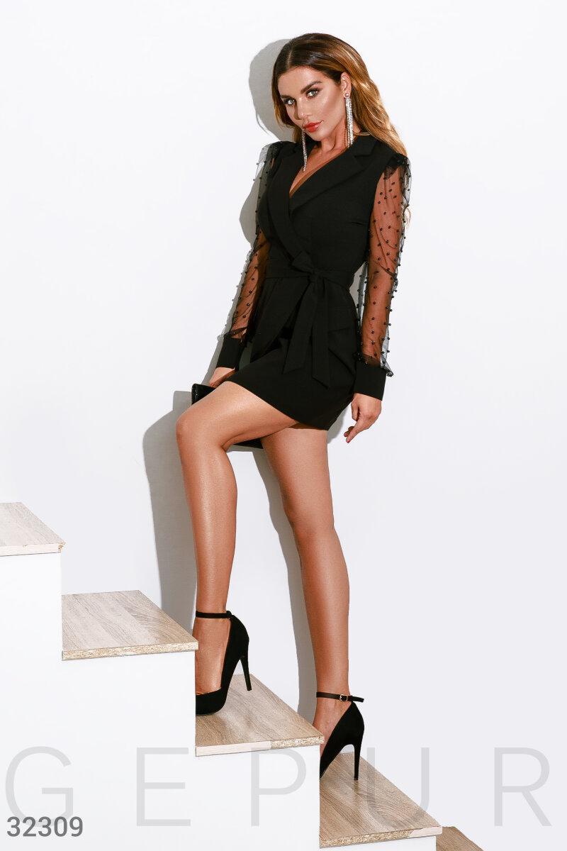 Черное деловое Платье женское