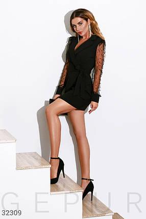 Черное деловое Платье женское, фото 2